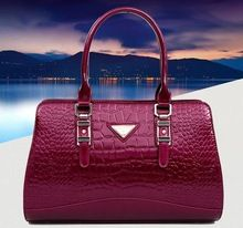 New Fashion Women Patent Leather Hobo Totes Lady Messenger Satchel Crossbody Bag