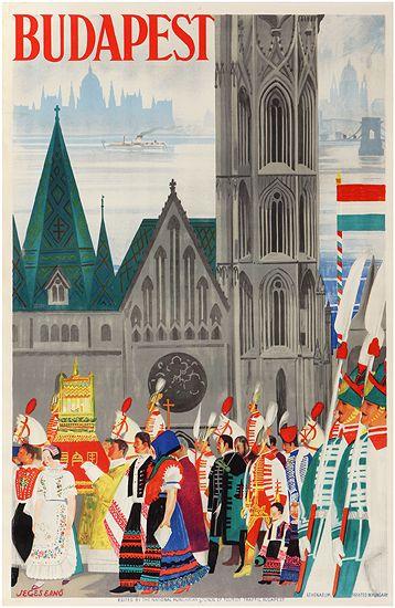 Budapest travel poster