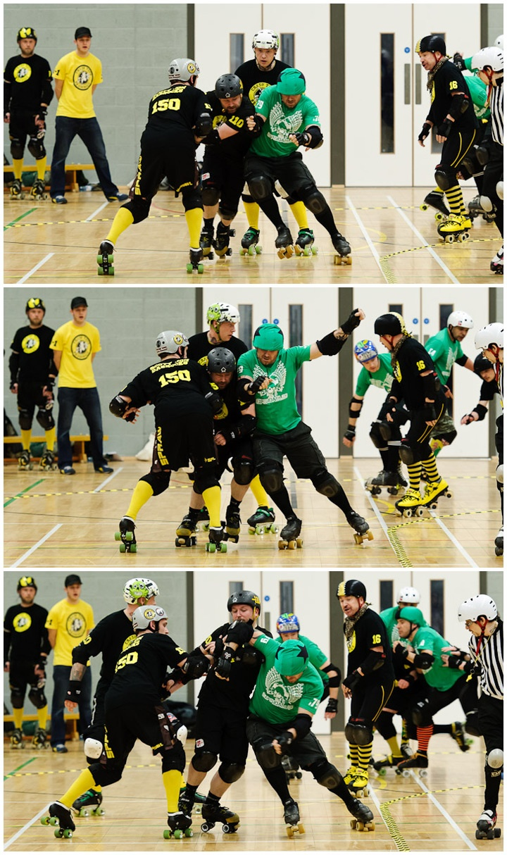 Mens Roller Derby § Sports Photography § Birmingham  Crash Test Brummies Vs The Expendables