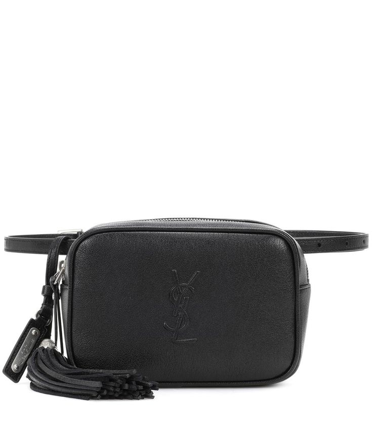 Saint Laurent - Lou leather belt bag - The belt bag is a 90s trend that has found new relevance with contemporary brands, and the Lou bag from Saint Laurent is a sophisticated take on the compact design. Crafted from soft and textured lambskin leather, this style comes in a rounded shape with zip-around detail. Inside is enough room for all your essentials, while the front features the signature YSL logo in tonal black.