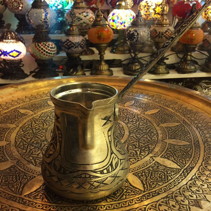 LARGE TURKISH COFFEE POT, HOLDS COFFEE FOR SIX