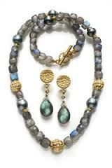 labradorite beaded necklace with pendant - Google Search