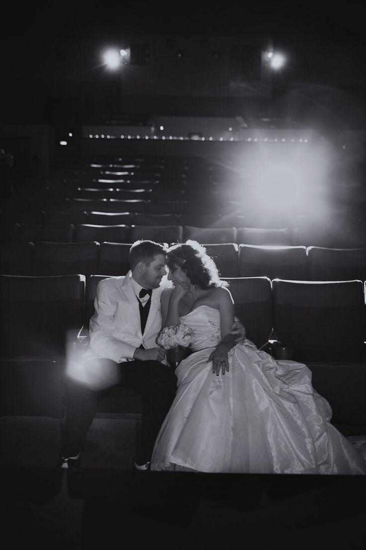 Movie theatre wedding… except in a theatre theatre for me. :D