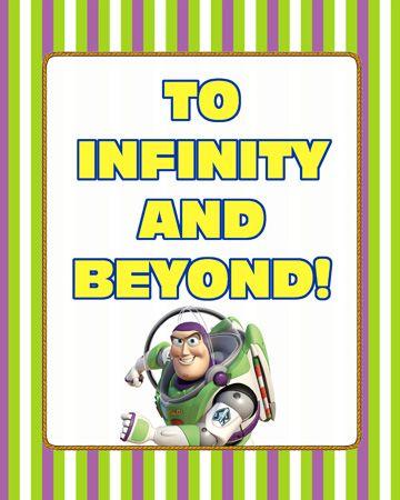 ToInfinityandBeyondButton Toy Story Party Printables