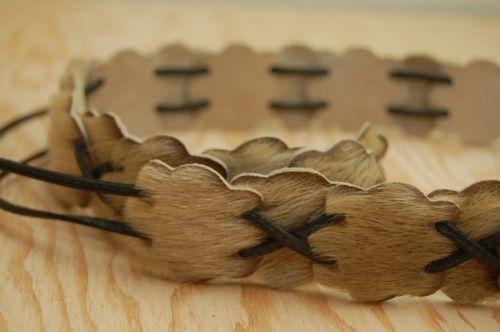 Handmade Seal Skin Belt Inuit Eskimo Authentic Alaskan Native Clothing Crafts