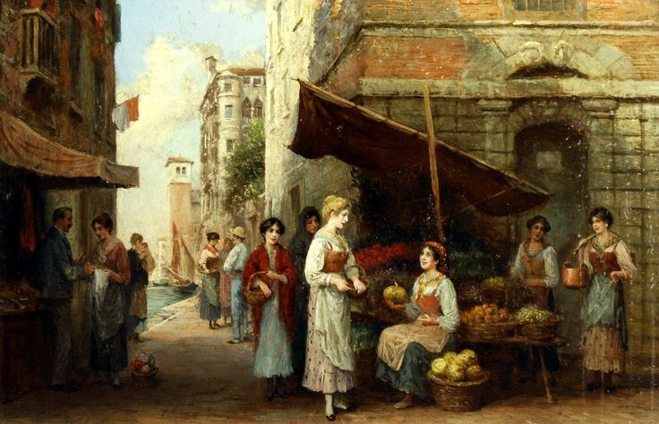 Arthur Trevor Haddon (British, 1864-1941) - A Venetian fruit seller