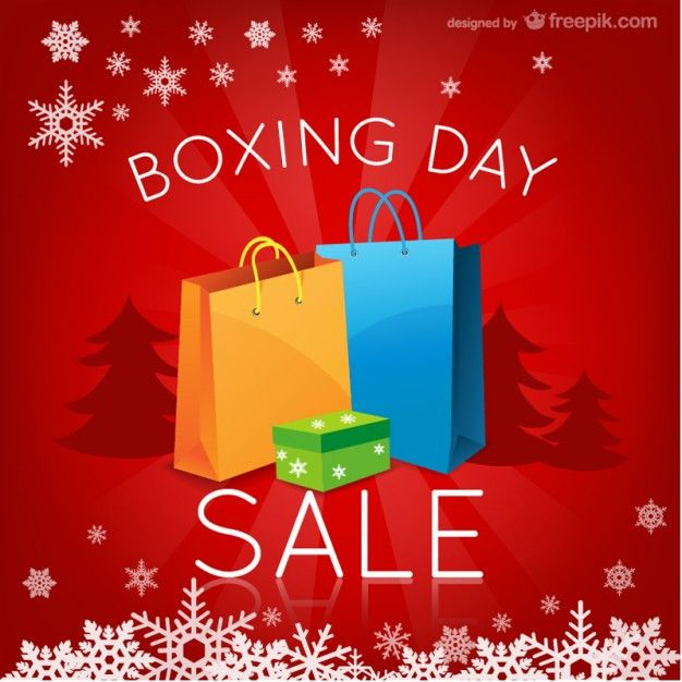 december 26th 2015 - Boxing Day Sales Free Vector