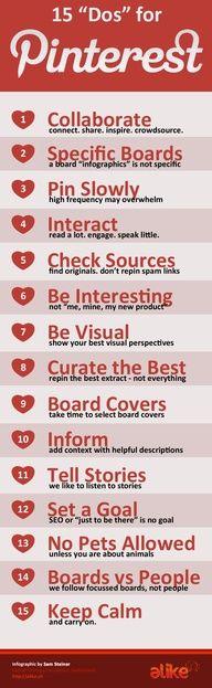 15 Do's for Pinterest [infographic]