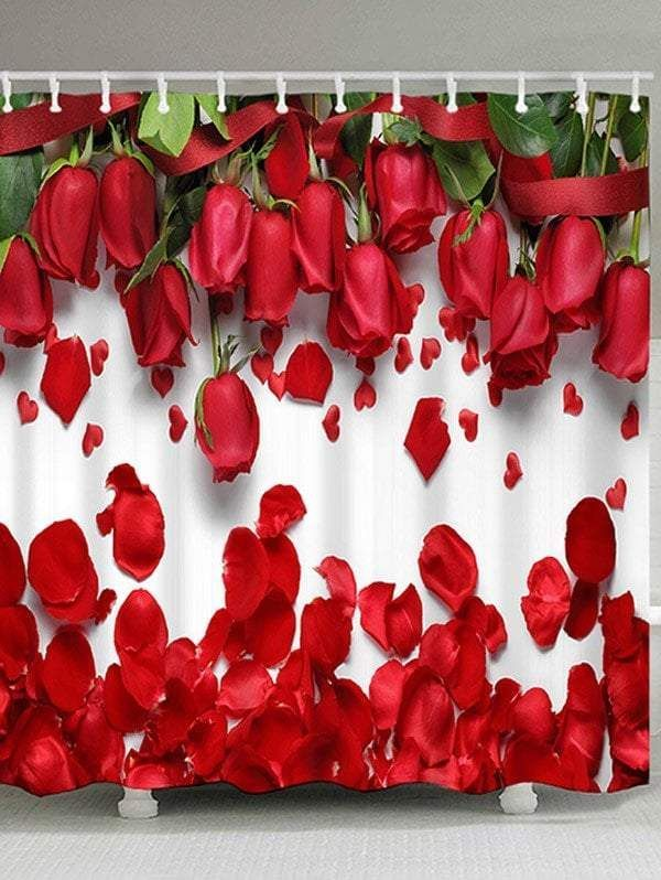 Red Rose Shower Curtain Valentine S Day Gift Idea With Images
