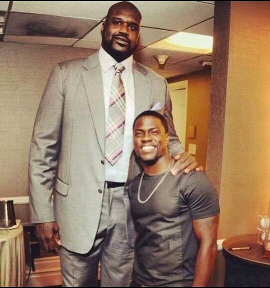 Kevin Hart and Shaquille o'neil lol a little height ...
