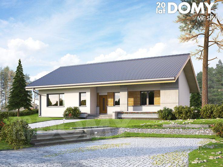 Atalia to (109,57 m2) to projekt domu parterowego zaprojektowany na planie prostokąta z dwuspadowym dachem. Projekt posiada zadaszony taras od strony elewacji ogrodowej. http://www.domywstylu.pl/projekt-domu-atalia.php. #projektydomow #mtmstyl #domparterowy #domywstylu #projekty #projekt #architektura #design #style #atalia