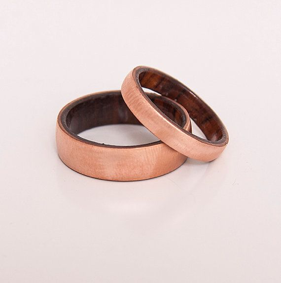 VALENTINE SALE 5 % OFF copper wood ring cocobolo by aboutjewelry