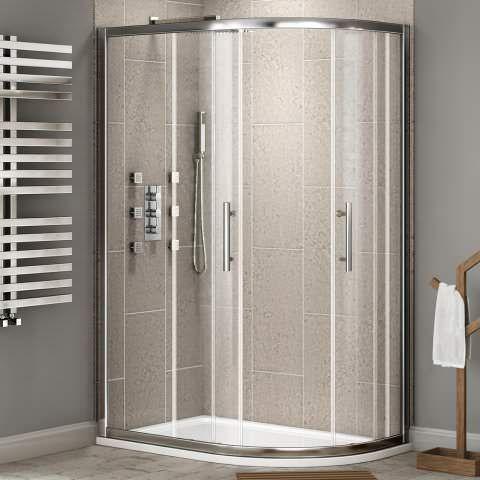 8mm - Premium EasyClean Offset Quadrant Shower Enclosure