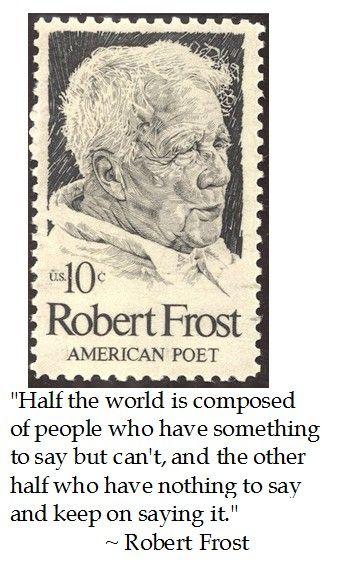 Robert Frost on Communication