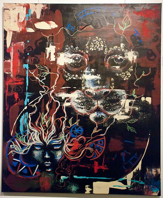 Definirse Iluminarse - $ 6820.- Acrílico 120 x 100 cm  Natalia Zambrana