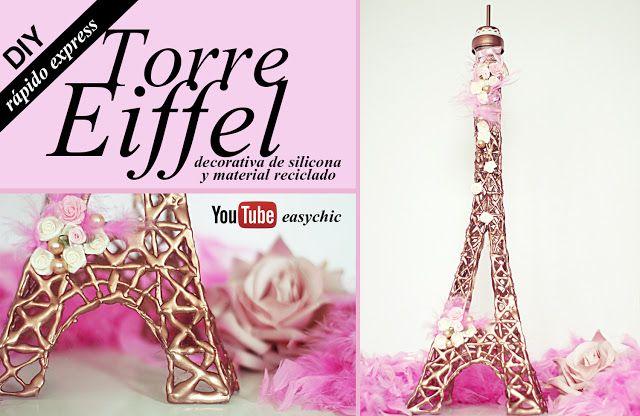 Cómo hacer una Torre Eiffel decorativa muy fácil y rápido   Manualidades