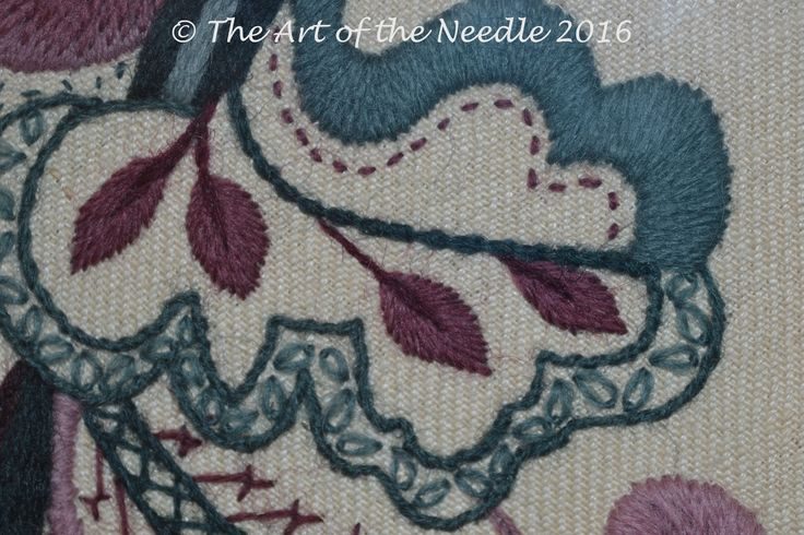 Crewelwork by Elizabeth Tapper at The Art of the Needle.