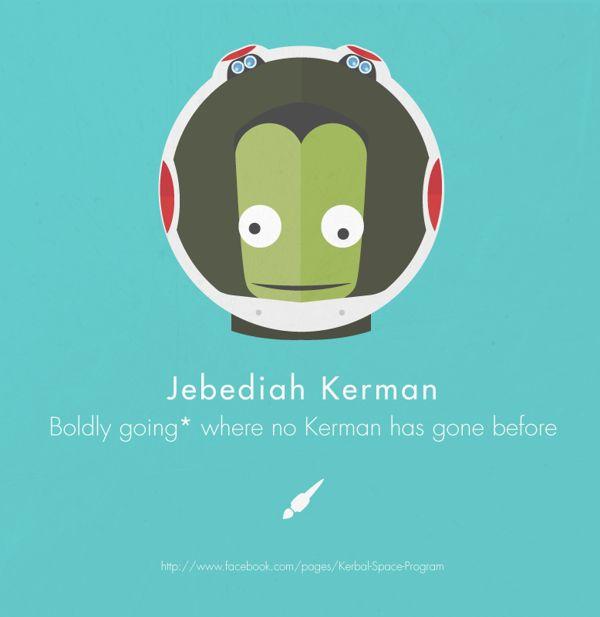 Kerbal Space Program Tribute by Adrian Gabor, via Behance