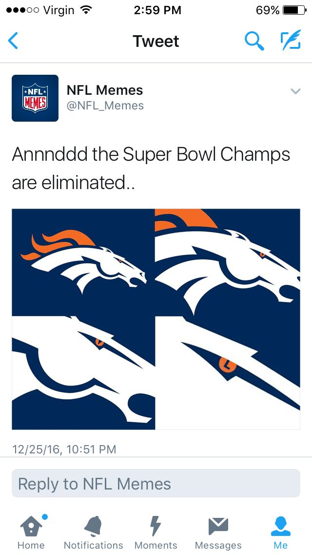 Thanks to the chiefs 😂😂😂 bye bye Denver donkeys