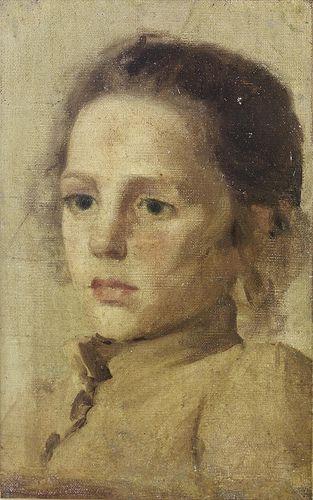 """Silvestro Lega (1826-1895) """"Ritratto di giovinetta"""""""