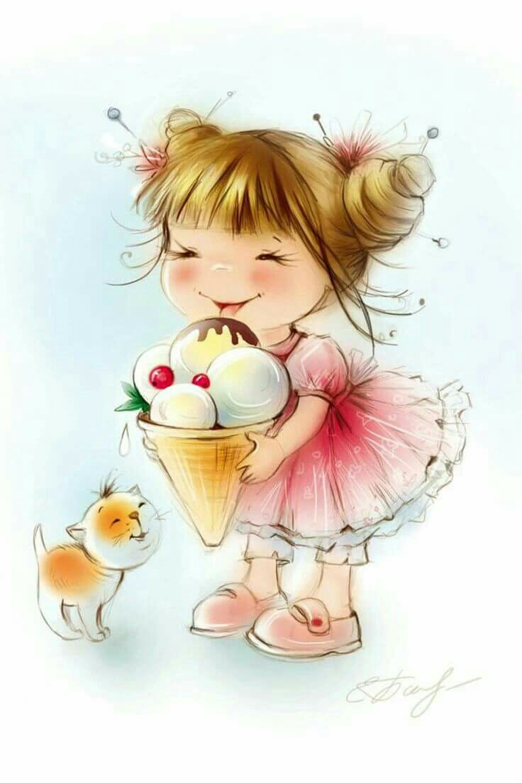 17 best images about munequitas cutes on pinterest - Ice cream anime girl ...
