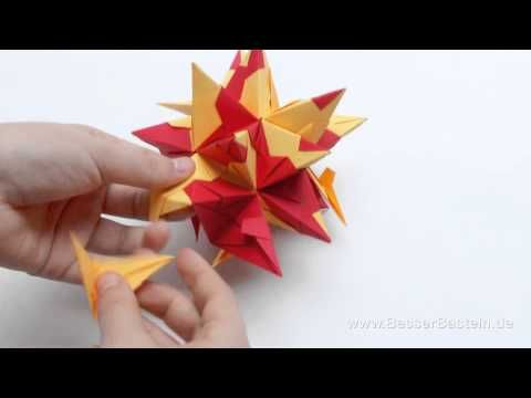 ▶ Modulares Origami - Bascetta-Stern falten (bascetta-star) - YouTube