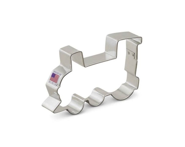 """Cookie cutter measures 5.65"""" at it's widest point. Create cookies in all sorts of shapes with these Ann Clark Cookie Cutters made in the USA. This tin-plated cookie cutter works wonderfully with cooki"""