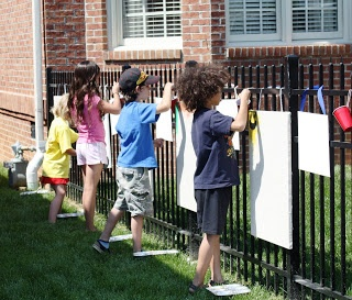BeachBrights: Neighborhood Art Party FUN! Maybe charge $10 per kid for a fundraiser?