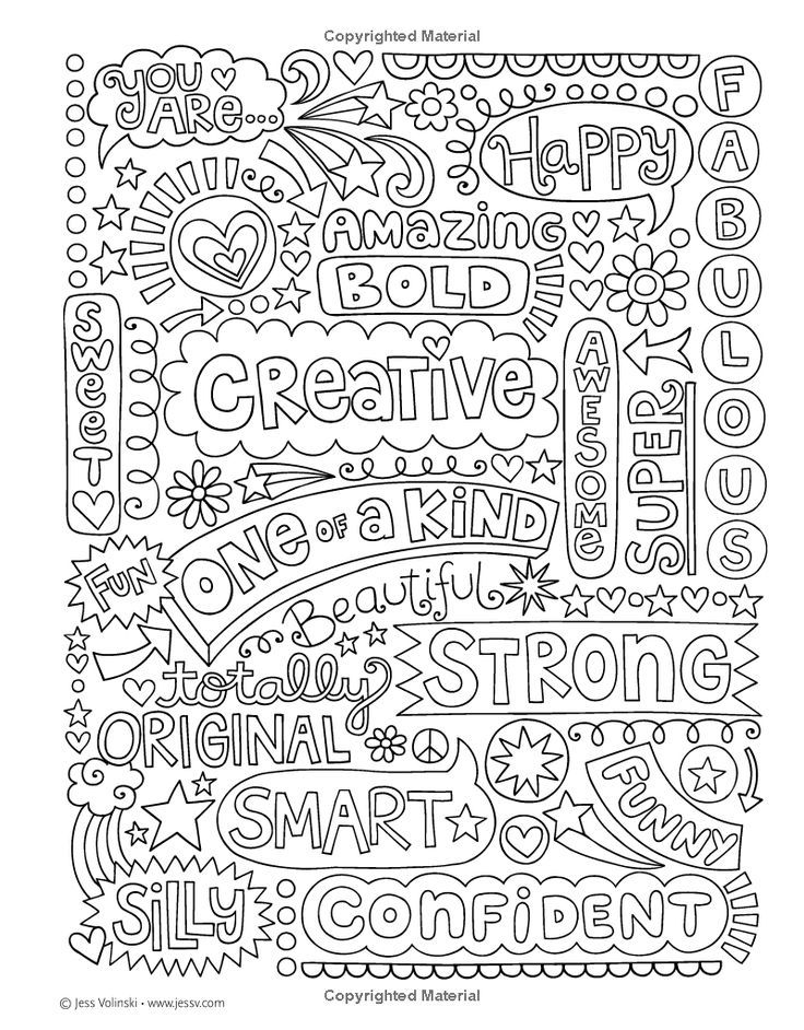 Notebook Doodles Go Girl Coloring Activity Book Jess Volinski