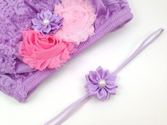 Shabby chic inspired lavender lace bloomer by CutiePieonEtsy, $23.00