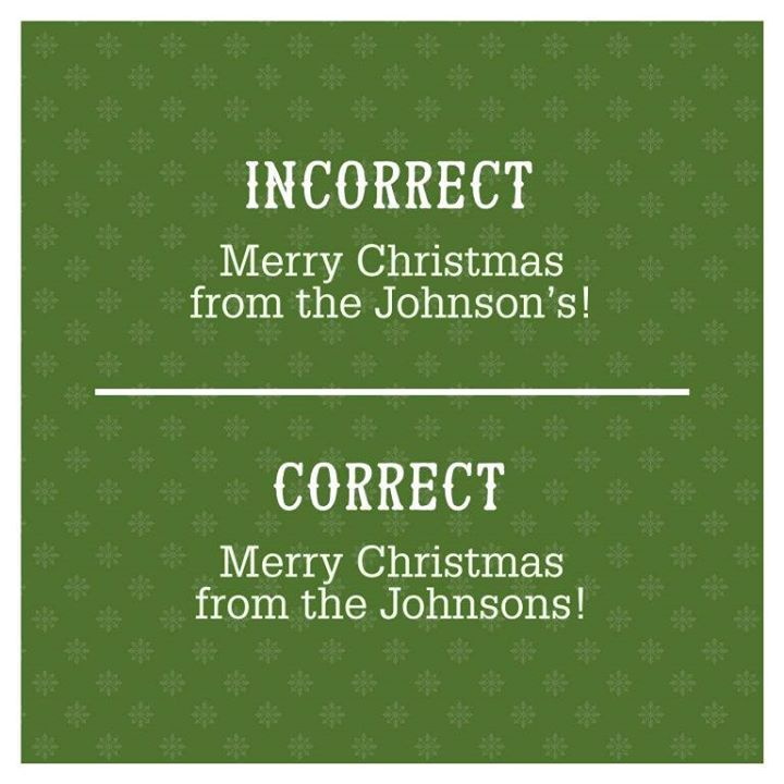 english grammar the plural of family names - Plural Of Christmas