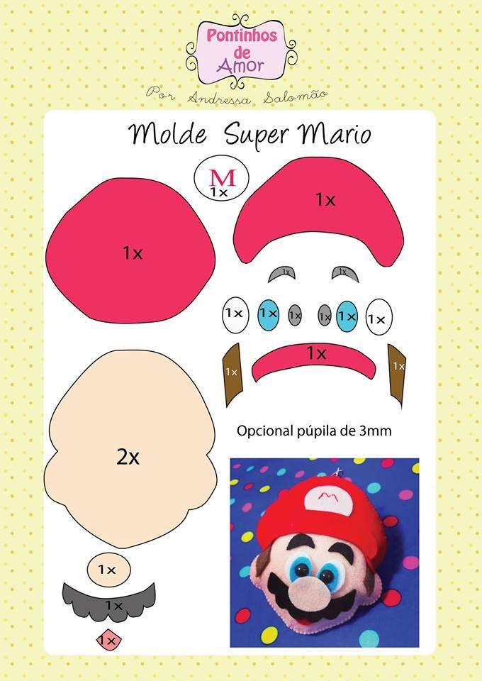 Olá meninas, tudo bem  Hoje trago para vocês moldes do Mario Bros. São um  molde de bolsa e um molde de chaveiro do Super Mario! Dá pra... Mais 3fea4c8bca