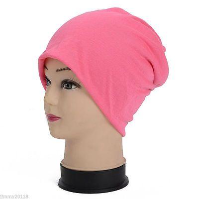 Winter-Ski-Slouch-Hat-Unisex-Cap-Beanie-Hip-Hop-Warm-Hats-Pink
