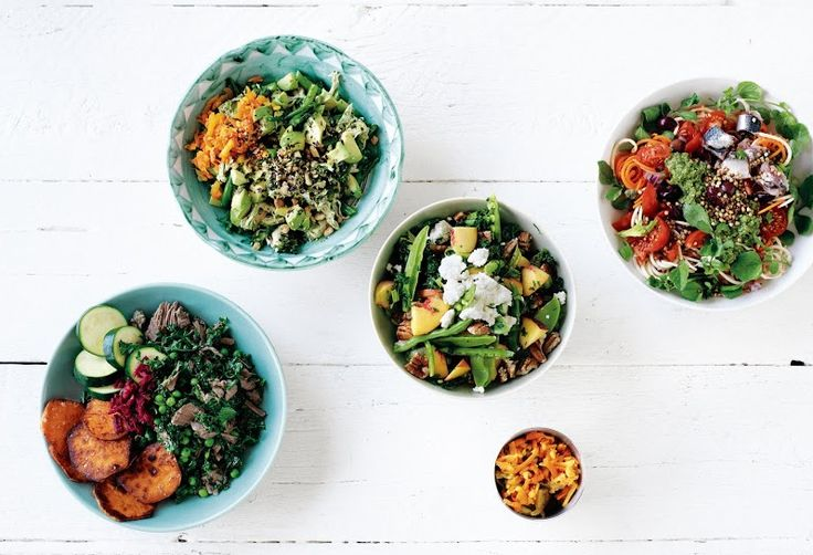 A selection of my Abundance Bowls, recipes in I Quit Sugar: Simplicious