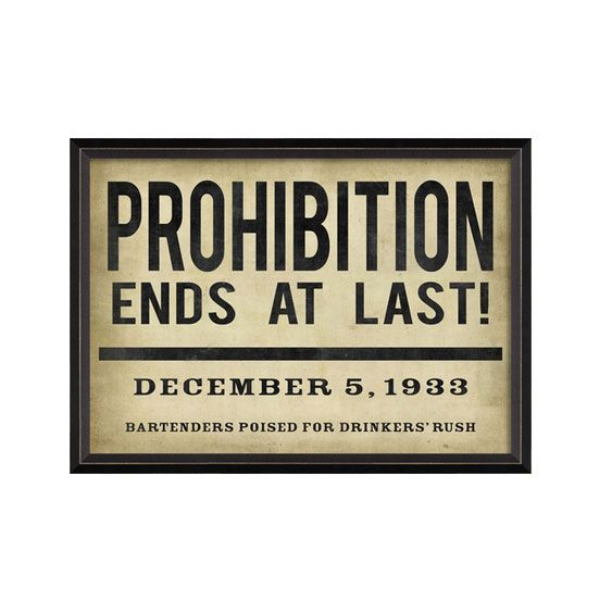 Read All About It Prohibition Sign | Perfect for my bar.