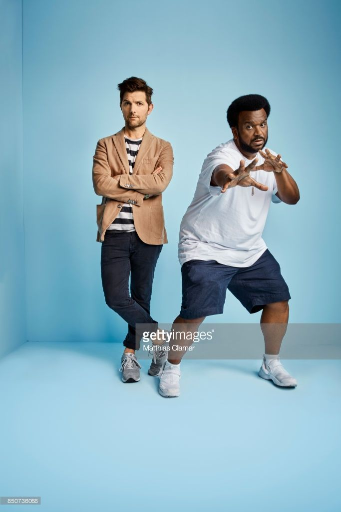 News Photo : Actors Adam Scott and Craig Robinson from Ghosted...