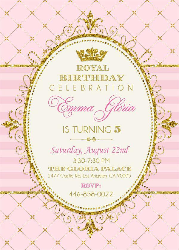 Royal Princess invitación fiesta de princesa por EniPixels