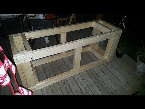 How to build yourself a double 55 gallon aquarium tank stand for under $100.00. We made 2 of these to house 4 55 gallon tanks for our angelfish fry grow out ...