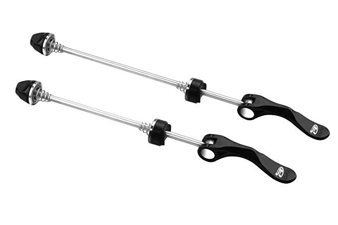 Beechamp 1 Pair Stainless Steel Bicycle Wheel Skewers Road Bike