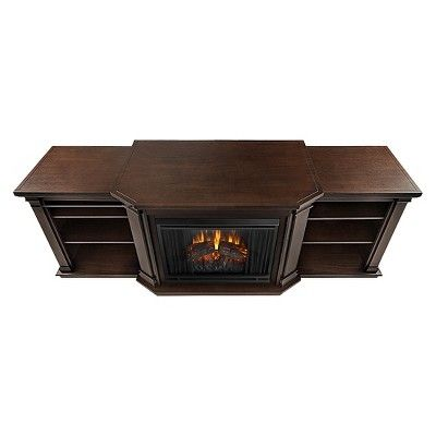 Real Flame - Valmont Electric TV-Media Fireplace-Chestnut Oak, Chestnut Oak