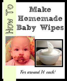 How to make homemade baby wipes. | Homemade baby wipes recipe