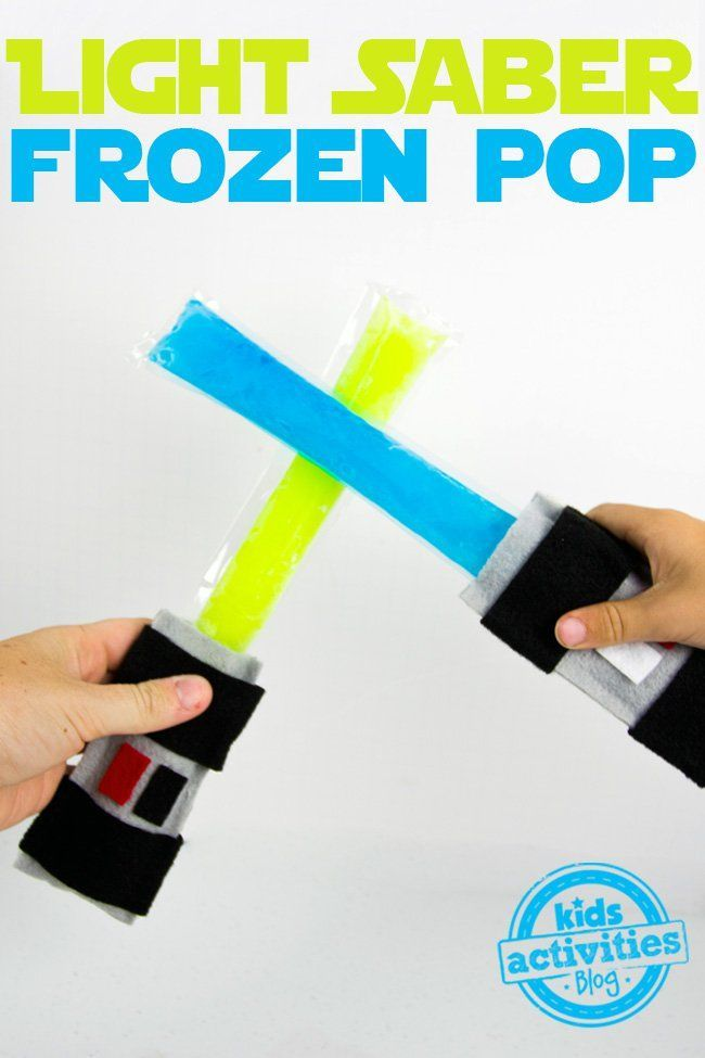 Make these super fun light saber frozen pop sleeves. So fun!