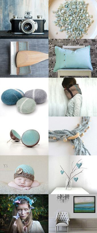 Turquoise symphony by Vicky on Etsy--Pinned with TreasuryPin.com