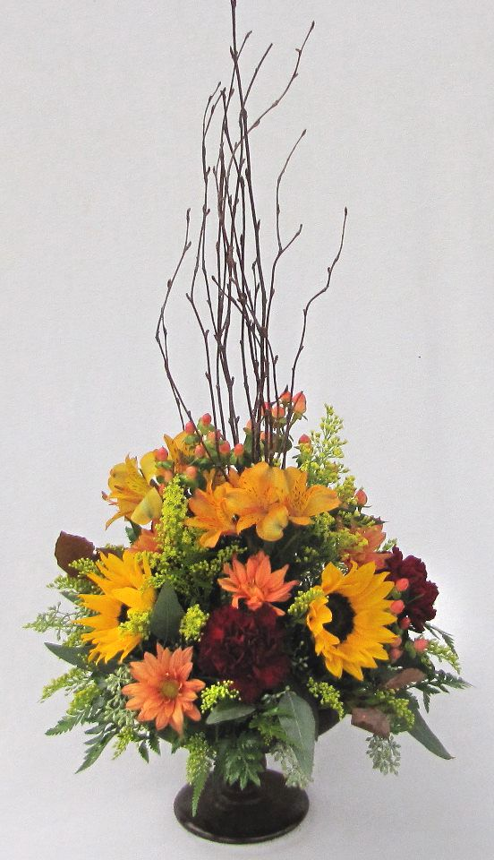 Fall Flower Arrangement Picture By Dietz Flower Shop
