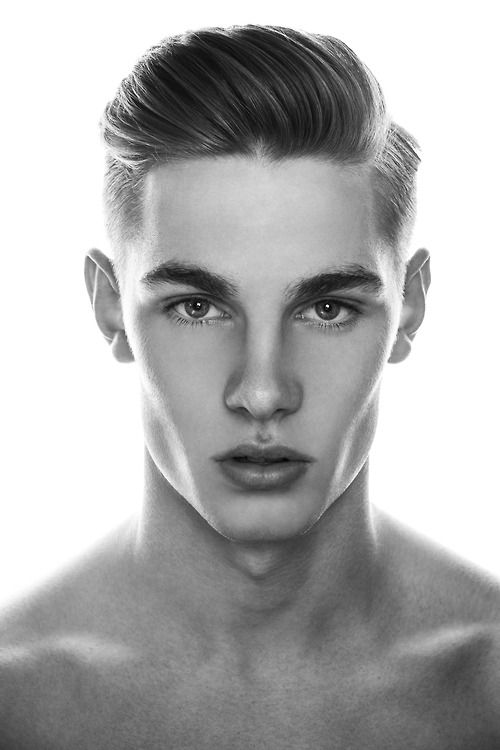 A males facial structure is quite different to a womans as they have a broader jaw, and a larger forehead as when they start to get older their hair recedes. Depending on whether the male is slim or not he may have very prominent cheekbones, and he will have hollow temples and cheeks so that his facial features are very sharp and prominent. This can be easily achieved using contour and highlight using cream based make-up.