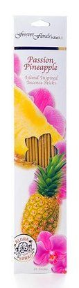 "PASSION PINEAPPLE INCENSE STICKS - ISLAND HOME FRAGRANCE by Tikimaster. $3.90. Each pack contains 20, 11"" incense sticks. Our newest fragrance is an exotic combination of island passion fruit and passion flower with a refreshing splash of juicy island pineapple.Enjoy this luscious island fragrance in our delightfully fragrant incense sticks. Each stick burns smoothly as it releases a pleasantly intoxicating scent that will inspire wonderful memories of a tropical island ..."
