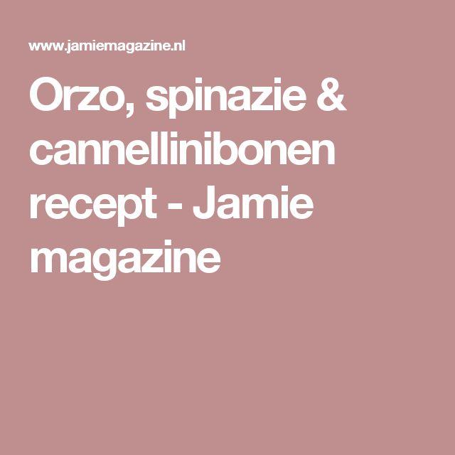 Orzo, spinazie & cannellinibonen recept - Jamie magazine