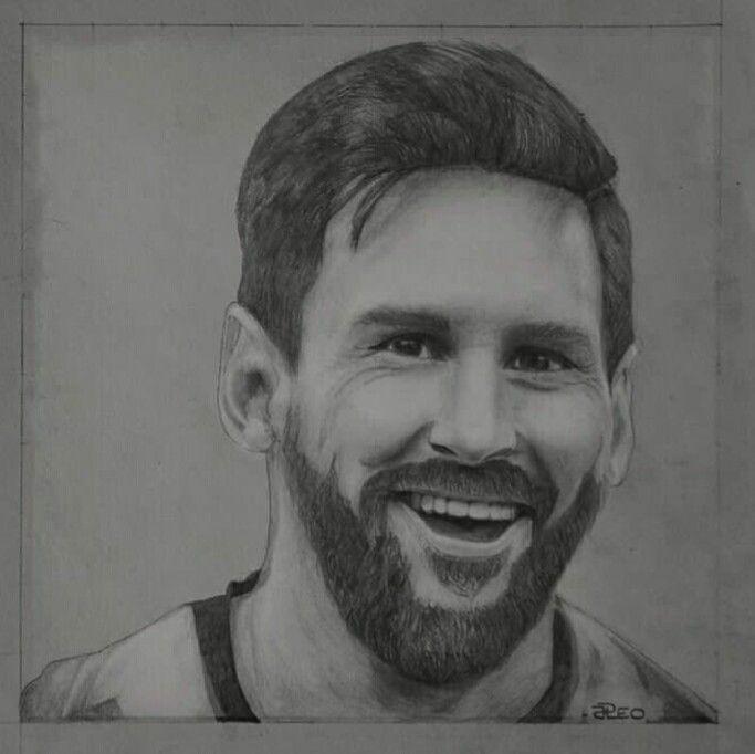Messi Pencil Drawing Messi Drawing Realistic Drawings Soccer Drawing