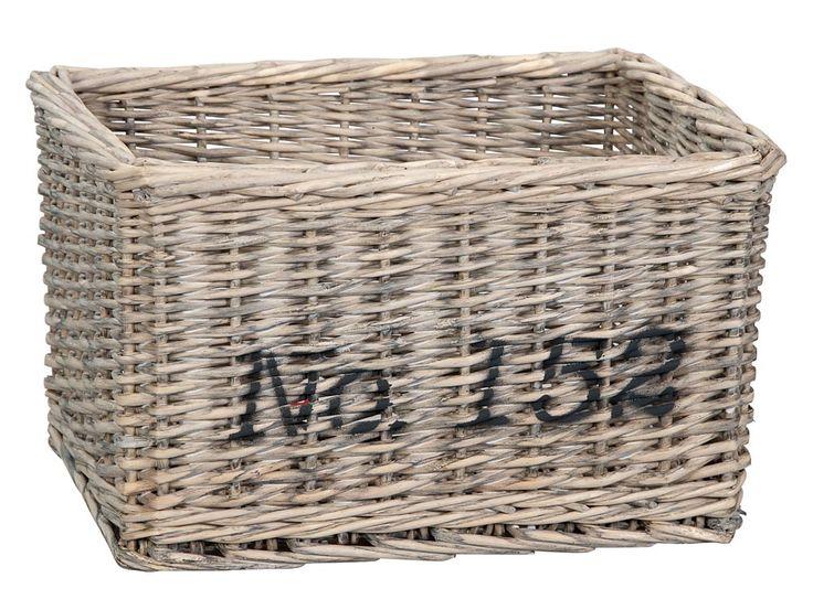 Lademand Tom rechthoek no.152: landelijk stoere opbergmand, in 2 afmetingen verkrijgbaar #opbergen #HomeLabel #leenbakker