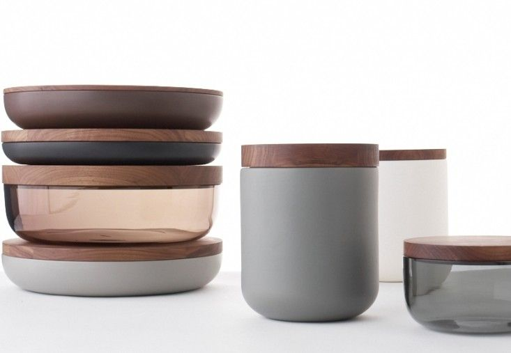 Vincent Van Duysen's wood-topped bowls and canisters for When Objects Work | Remodelista